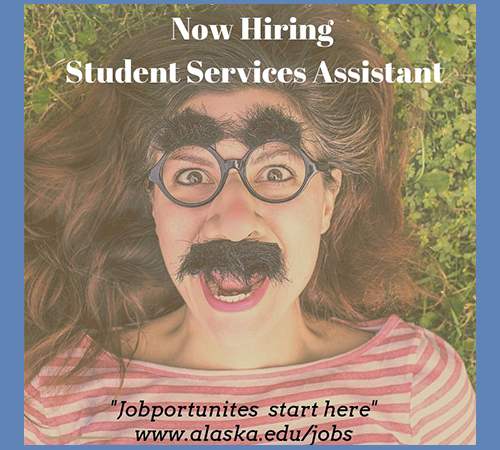 Now hiring student services assistant poster