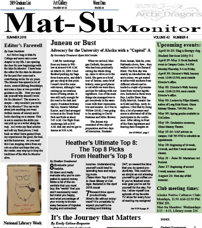 Mat-Su Monitor Front Cover Summer 2019 Edition