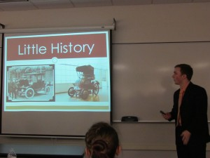 "Student Showcase presentation on ""Little History"""