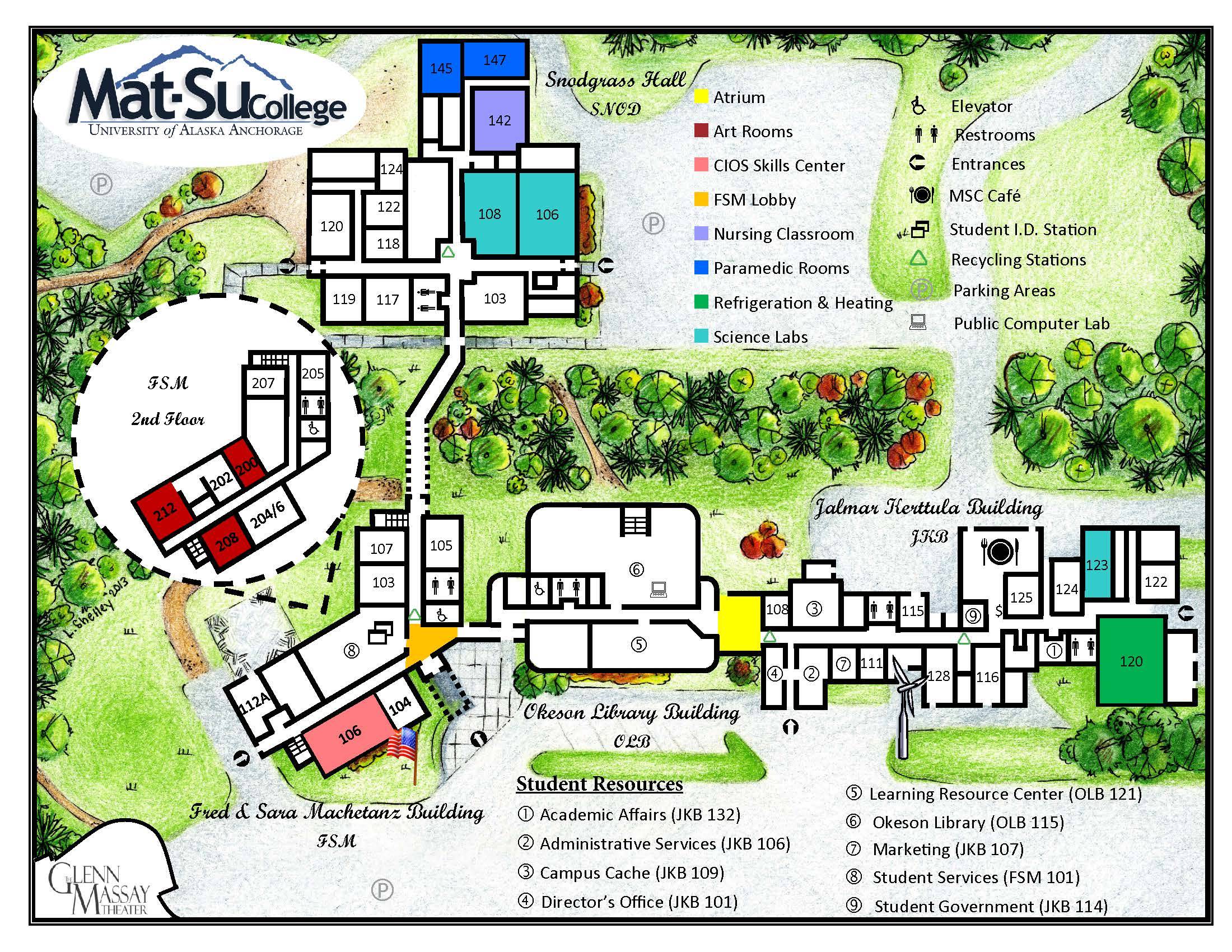 MSC Campus Map
