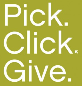 pick. click. give.